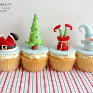 Bánh cupcake giáng sinh (tặng)